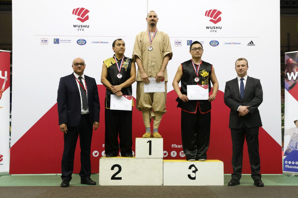 Podium Marc ANDRIEU Coupe de France Wushu